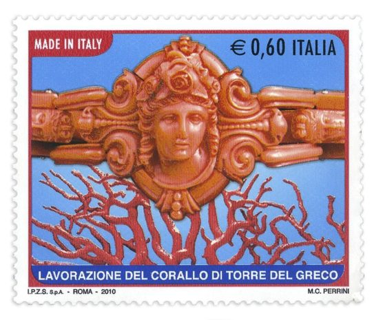 coral stamp