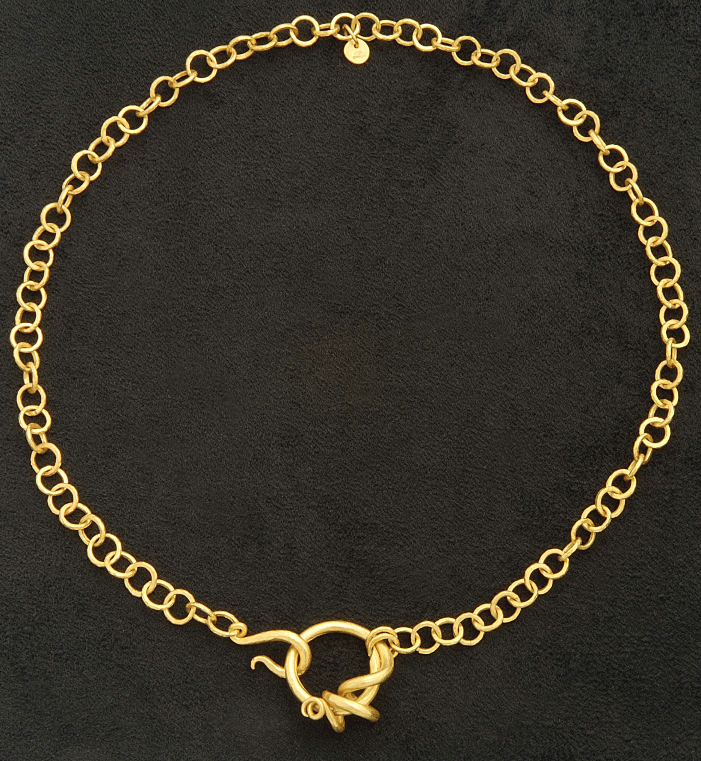 22ct gold handmade chain necklace